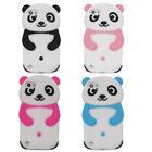 Cute 3D Panda Soft Silicone Protective Case Cover for iPhone Samsung Huawei