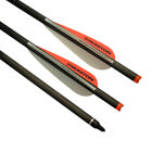 """20"""" Carbon Crossbow Bolts Easton Vanes Hunting Arrows Screw Points Shooting Bolt"""