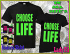 CHOOSE LIFE -MENS OR LADIES T SHIRT RETRO 80s - FANCY DRESS  ALL SIZES AVAILABLE