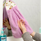 Convenient Coral Velvet Hand Wash Hanging Towels Soft Warm Quickly Dry Washcloth