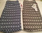 Ruby Road 22 Womens Shorts Your Choice Brown or Navy Elastic Waist Stretch
