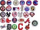 New MLB, Major League Baseball Team logo patches. Embroidered iron on patch