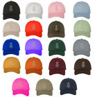 Pineapple White Thread Low Profile Dad Hat Baseball Cap - Many Styles