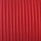 Fabric braided cable UK manufactured round and twisted covered red