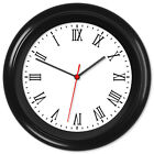 Backwards Clock Reverse Movement Anti Clockwise Roman Numerals #01