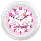 Butterflies Clock Butterfly Fantasy Girls Bedroom Gift #10 - Can be personalised