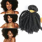 2Pcs/lot Afro kinky Curly Top Brazilian Huma Hair Weave hair Bundle Extensions