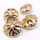 12 PCS Gold Windmill Wheel Style Shank Button Metal For Sewing Embellishment