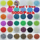 Wholesale 5000Pcs Opaque Glass Seed Beads Jewelry Finding DIY Craft 2MM 18 Color