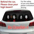 Frightening Horror Rear Window Decal Sticker to Discourage High-beam Users