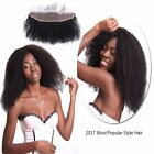 """13x4""""Afro kinky curly Brazilian Remy Human Hair Ear to Ear Lace Frontal Closure"""