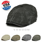 US Voboom Mens Retro Baker Boy Peaked NewsBoy Country Golf Hat Beret Flat Cap