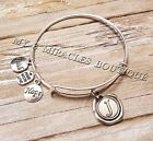 INITIAL Bangle Bracelet U PICK LETTER Expandable Personalized Valentine's Gift