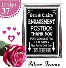 PERSONALISED ENGAGEMENT POST BOX GIFT TABLE CARDS SIGN CHALKBOARD VINTAGE