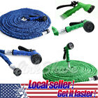 USA 25 50 75 100 200 Feet Expandable Flexible Garden Water Hose + Spray Nozzle D
