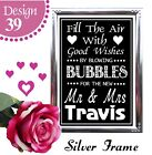 PERSONALISED FILL THE AIR BLOWING BUBBLES CHALKBOARD VINTAGE WEDDING SIGN