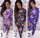 NEW WOMENS ARMY CAMOUFLAGE PRINT HOME TRACKSUIT FLORAL SPRING FLOWER TEENAGER UK