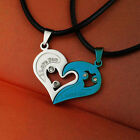 Fashion Women Man Heart Shape Pendant Necklace For Lovers Couples Jewelry