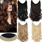 "15""-22"" New Body Wave Secret Halo Real Human Hair Invisible Wire Extension 80g"