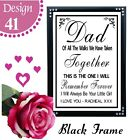 PERSONALISED WEDDING SIGNS - DAD THANK YOU LOVE YOU BRIDE WEDDING SIGN