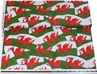Wales Welsh Flag Red White Green 100% Cotton High Quality Material *3 Sizes*