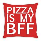 Pizza Is My BFF Dorm Room Design Throw Pillow 16 x 16