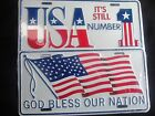 """""""GOD BLESS OUR NATION"""" or """"USA it's STILL NUMBER 1"""" Patriotic Authentic License"""