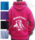 HORSE RIDING HOODIE, PONY RIDING Child & Adul Equestrian Mounted Games Gymkhana