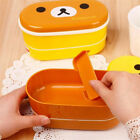 2 Layer Cartoon Rilakkuma Lunchbox Bento Lunch Box Food Container With Chopstick