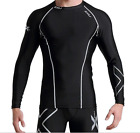 2XU Men Compression Shirt Long Sleeved Sports T-Shirt Breathable Elastic Cycling
