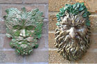 Classic & Bearded Greenman Garden Wall Plaques ornament Handmade PAGAN WICCAN