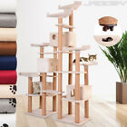 Cat Tree Scratching Post Activity Centre Toy Bed Kitten Toy Scratcher 211.4 cm