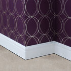 Plastic Skirting Board 100mm White Satin UPVC Torus  2.5 & 3 Metre Lengths