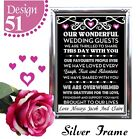 IPERSONALISED WEDDING SIGNS THANK YOU GUEST SIGN TABLE CHALKBOARD SIGN