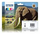 T2428 Pack of 6 Epson 24 Original Ink Cartridges C13T24284010 Elephant Series