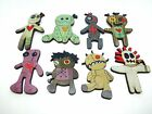 CUTE VOODOO DOLLS WOODEN BROOCHES PIN 8 TO CHOOSE FROM