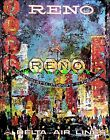 Reno Nevada The Biggest Little City Airline Travel Delta Vintage Poster Print