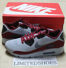 NIKE AIR MAX 90 ULTRA ESSENTIAL WOLF GREY DARK BLACK RED 819474-012 infrared og