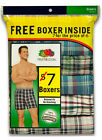 7 Pack Men's Fruit Of The Loom Boxers / Boxer Shorts