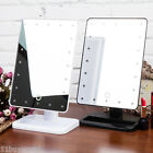 Touch LED Light Illuminated Make Up Cosmetic Vanity Mirror Bathroom Tabletop AU
