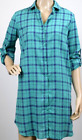 UK Ladies Womens Fashion Checked Print Shirt Dress Plaid Casual Shirt Dress