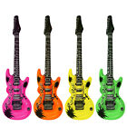 Novelty Inflatable/ Blow Up Neon Guitar 106cm Fancy Dress Accessory
