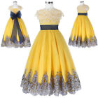 Flower Girl Princess Pageant Wedding Party Formal Birthday Kids Dress Ball Gown