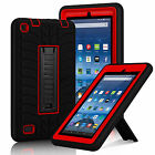 Military Rubber Heavy Hard Stand Case Cover for Amazon Kindle Fire 7'' 5th Gen