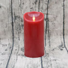 Luminara Wine Red Wax Flameless Moving Wick LED Candle with Remote Control/Timer