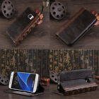 Vintage Antique BOOK Leather Flip Wallet Case Cover For Galaxy S6 S7 Edge Note 5