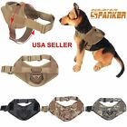 Tactical Military K9 Service Dog Vest Police Patrol Harness Handle Size L,S #US