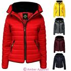 Kids Puffer Quilted Girls Padded Bubble Childrens Jacket Zip Fur Coat Jacket Top