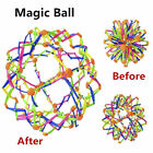 Kids Funny Retractable Changeable Flower Magic Ball Hand Catch Trainingball Toys