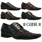MENS FAUX LEATHER SHOES SMART WEDDING ITALIAN FORMAL OFFICE DRESS WORK SHOE SIZE